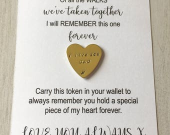 Father of the bride gift, of all the walks gift, dad pocket token, daughter to dad gift, gifts for dad, wedding favours, mother of the bride