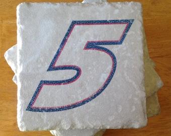 NASCAR Kasey Kahne #5 Set of 4 Drink Coasters