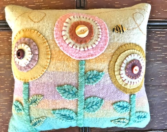 Penny Pillow with Buzzy Bee