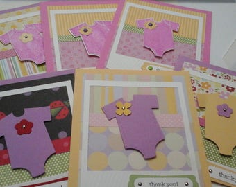 Set of six Baby Thank You cards