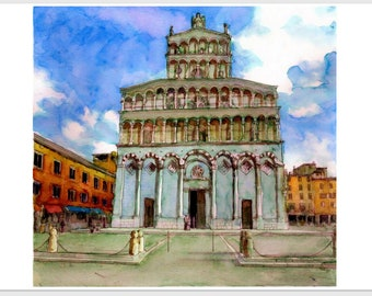 The church of St. Michele in Foro, Lucca, Italy