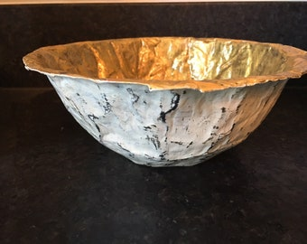 Beautiful Egyptian Style Hand Made Paper Mache Bowl