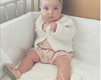 Baby Girl Headband - Baby Headband - Newborn Headband - Baby Girl - Newborn - Gold Baby Girl Bow - Gold Headbands