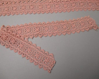 Antique chemical  lace pieces early 20 century