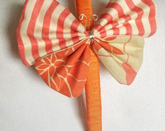 Orange Butterfly Headband