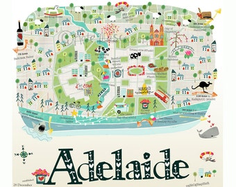 Adelaide Map Square PRINT