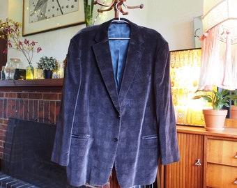 70s retro checkered velvet mens jacket XL