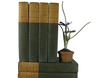 Antique Book Set by  Honore de Balzac, French Farmhouse Home Decor, Country Home Decor,  Decorative books,  Book Themed  Wedding, Old Books,