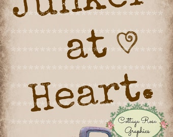 Junker at Heart printable large format digital image download old truck Buy 3 Get one Free