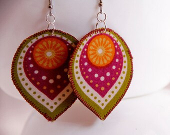 Boho statement earrings, gift for librarian, gift for teacher, funky chic statement jewelry, unique art jewelry
