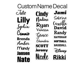 Name Decal | Name Vinyl Decal | Vinyl Decal | Vinyl Monogram Decal | Custom Vinyl Name Decal | Vinyl for Crafts | Monogram Decal | Height
