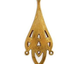 Brass Stampings Earring Connectors Earring Findings Components, 4 Loop Chandelier Earring Findings (2 +pcs ) BEAUTIES !   AMERICAN Made