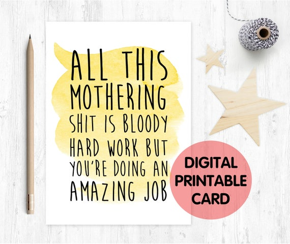PRINTABLE mother's day card, funny mother's day card, first mother's day card printable, 1st mother's day card, first time mum
