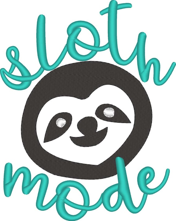 SAMPLE SALE, Sloth Embroidered Shirt - Sloth Mode - Sloth Birthday Party - Woodland Creature - Hanging Sloth - Kids Sloth Shirt