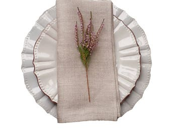 plain linen napkins - linen napkins set - natural grey napkins - rustic wedding napkins - non dyed napkins - set of linen napkins