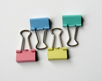 Four Mini Binder Clips