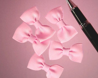"25ct. Tiny Pink Grosgrain Classic Bow Ties 7/8"" x 1-5/8"" (FREE SHIPPING!)"