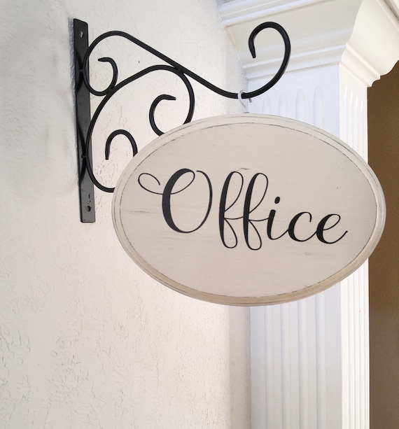 Office Sign Farmhouse Wooden