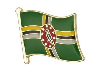 Dominica Flag Lapel Pin 19 X 16mm Hat Tie Tack Badge Pin