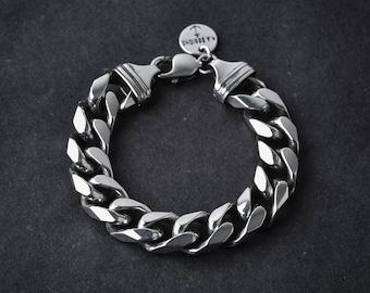 Sterling Silver Chain Bracelet | heavy chain | link bracelet | silver link bracelet | silver chain bracelet | silver 925 | silver jewelry