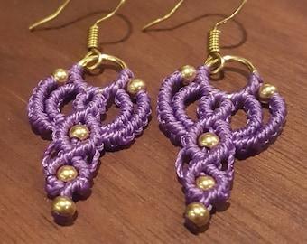 Goddess Earrings - Amethyst