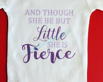 Though she be but little | baby gift | baby shower | she is fierce | baby girl gift | new baby gift