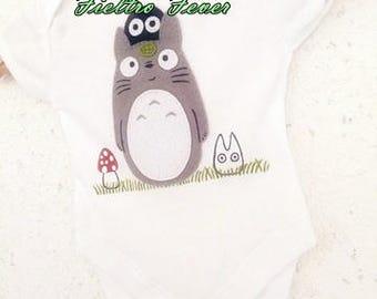 baby totoro, totoro onesie, totoro shirt, my neighbor totoro, totoro shoes