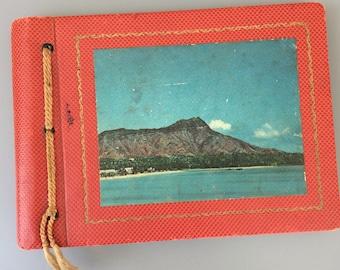 Vintage photo album old photography book organizer red