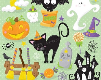 80% OFF SALE halloween props clipart commercial use, vector graphics, digital clip art, digital images - CL698