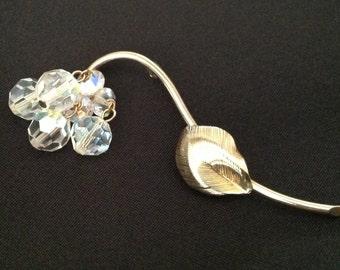 Vintage A/B Crystal Flower Brooch