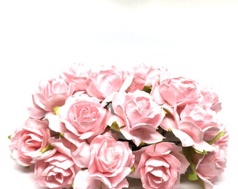 Light Pink Classic Mulberry Paper Roses Cr039
