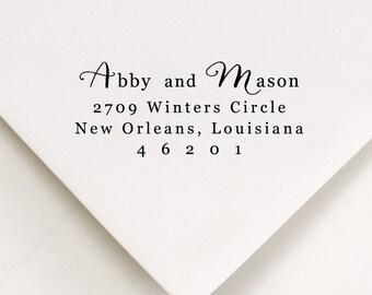 Script Addressing Stamp, Calligraphy Stamp, New Apartment Address, Please Return To, DIY Return Address, Envelope Decor, Personalized Stamp
