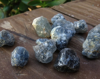 Natural Rough Blue Quartz Nuggets from Madagascar (25 Grams) (NS611)
