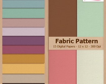Digital Scrapbook Paper Pack - FABRIC PATTERN - Instant Download