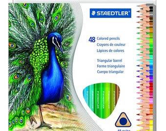 Staedtler Wood Colored Pencil Triangular Barrel 48 pencils