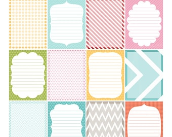 Everyday 2 Digital Journal Cards - 3x4 project life inspired printable scrapbooking journaling note cards  - instant download - CU OK