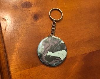 GreenScene Button Keychain