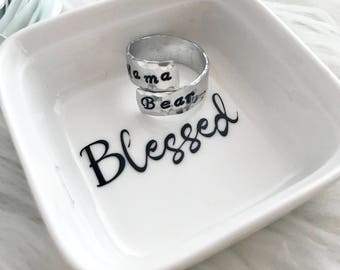 Blessed Ring Holder, Ring Dish, Jewelry Storage, Ring Display, Ring Dish Holder, Ring Holder, Ring Dish for Women, Ring Organizer, Mom Ring