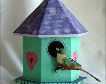 Hand-Painted Birdhouse Gazebo
