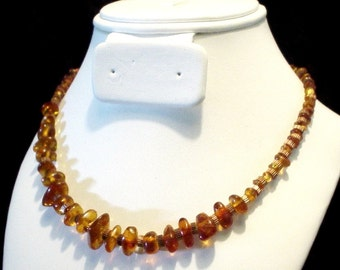 Amber And Copper Necklace