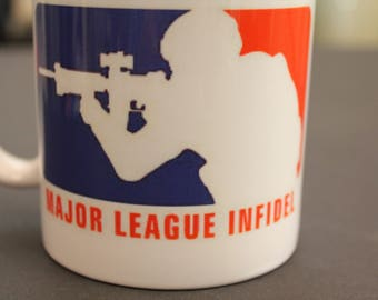 Major League Infidel, MLI, Military, Custom Coffee Mug, Infantry, Army, Marines, USA, Gift for, Soldier, Fathers day, Gift, Coffee mug,