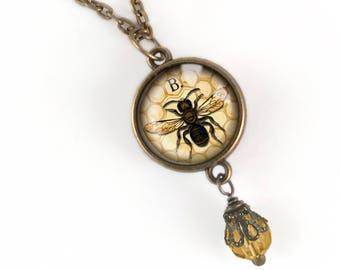 Worker Bee Pendant Necklace