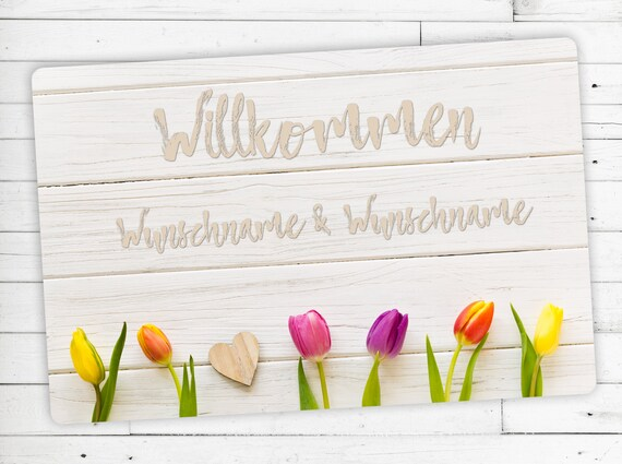 """Mat """"Tulip"""" with your name or desired text"""