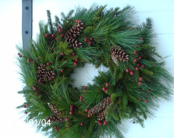 Large Fresh Maine Balsam and Pine Wreath