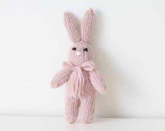Newborn props - Baby girl rabbit - Photo prop rabbit - Newborn rabbit - Newborn dusty pink - Newborn girl - Photo prop girl - Newborn girl