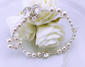 Wedding bracelet beads Aude