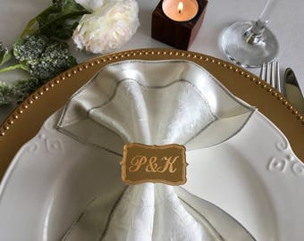 Wedding napkin rings Etsy