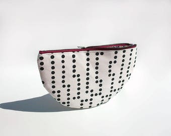 Large purse, Travel clutch wallet, Burgundy, Cute zipper pouch, Cotton purse organizer, Trousse, Clutch purse, Travel pouch, Small handbag