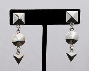 Geo6 - Earrings - Sterling Silver