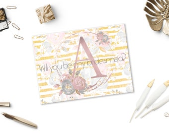 Maid of honor proposal Bridesmaid proposal puzzle Will you be my maid of honor Flower girl gift Maid of honor gift Maid of honor puzzle card